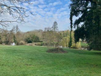 Holywells Park pond