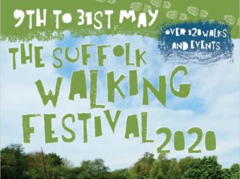 the cover of the 2020 brochure sowing a group of people from behind, walking through a beautiful green field on a sunny day