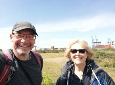 Lesley Dolphin and David Falk at Landguard Nature Reserve