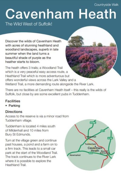 Caveham Heath leaflet