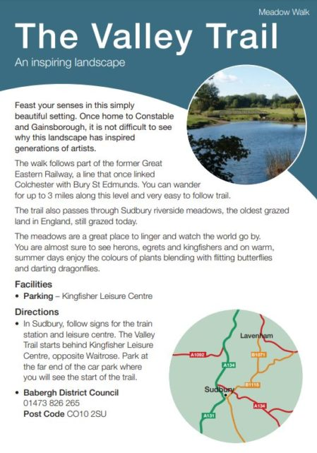 Valley Trail leaflet