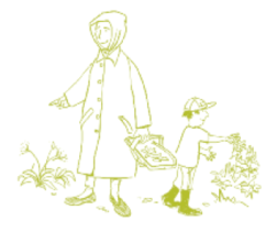 cartoon-adult-and-child-sewing-plants