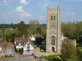 Tall church tower