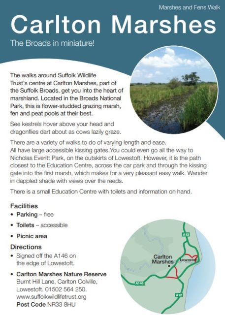 Carlton Marshes leaflet
