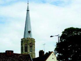 Octagonal church tower