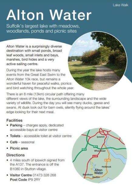 Alton Water leaflet