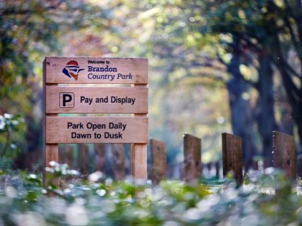 Brandon Country Park sign