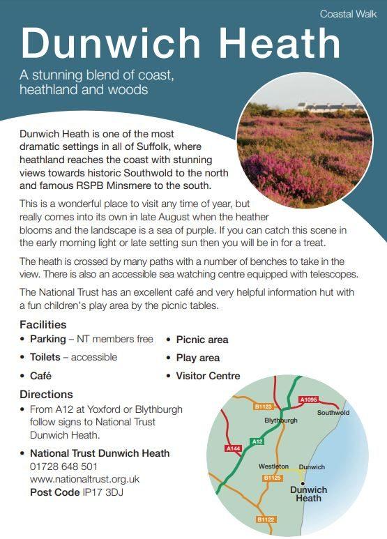 Dunwich Heath leaflet
